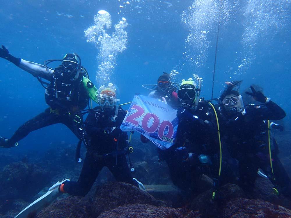 所沢市からご参加のA様 200本記念ダイビング