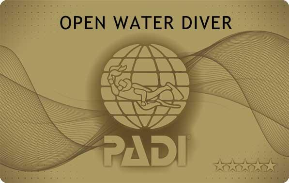 PADIオープンウォータダイバー ライセンスカード