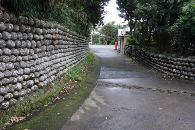 八丈島の石垣